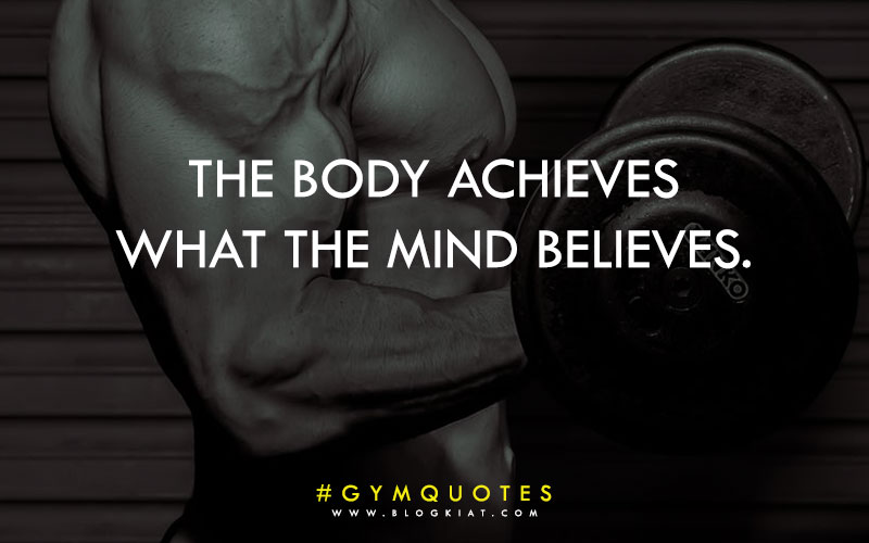 Gym workout quotes for bodybuilding.