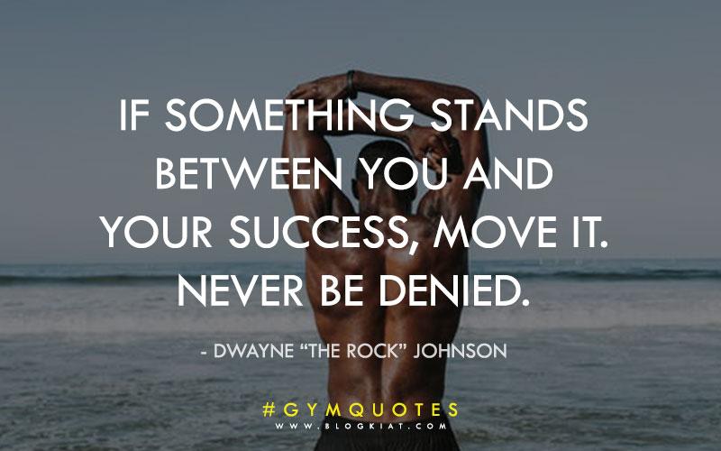 Inspirational gym quotes.